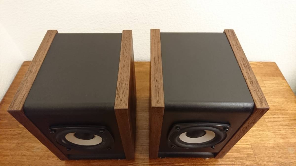 自作 DIY Audio SA/F80AMG BS-8 ウォルナット ペア_画像2