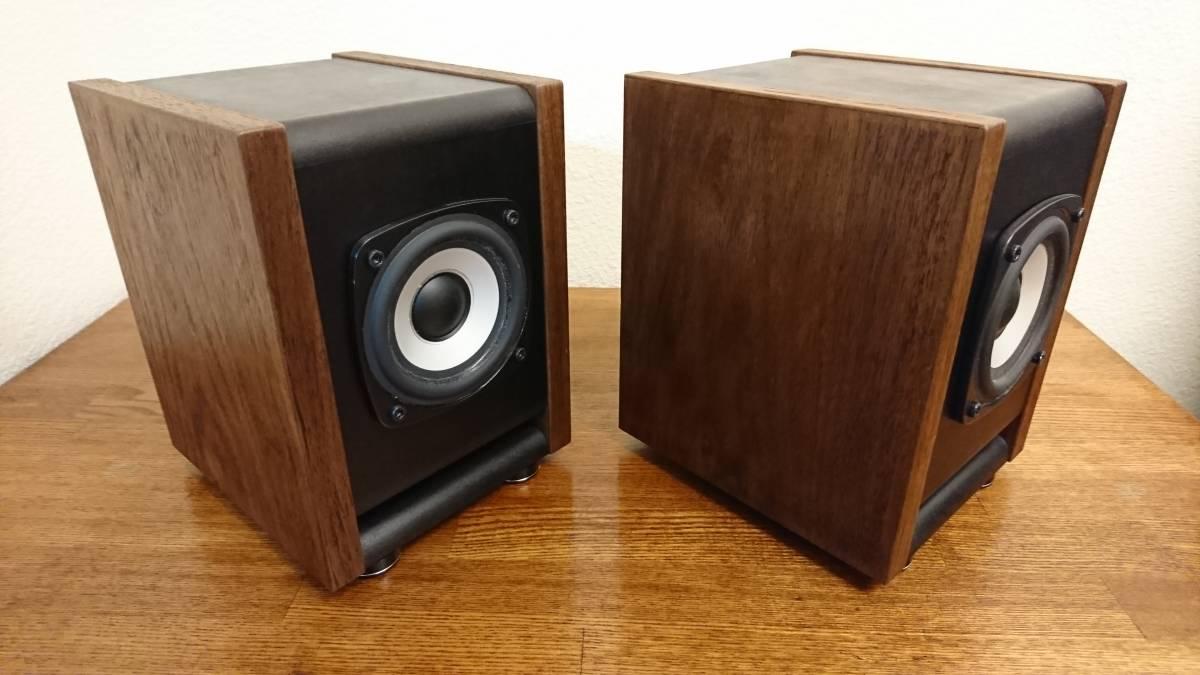 自作 DIY Audio SA/F80AMG BS-8 ウォルナット ペア_画像4