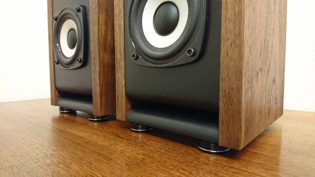 自作 DIY Audio SA/F80AMG BS-8 ウォルナット ペア_画像5