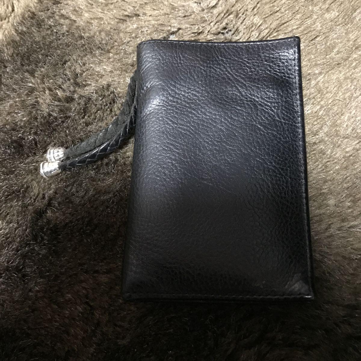 988d10bf5ce2 BWL ビルウォールレザー 二つ折りウォレット 財布 ストラップ付き_画像3