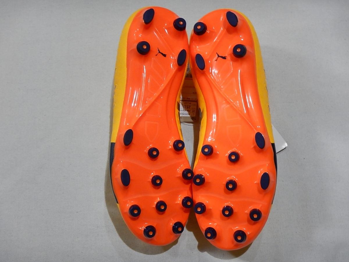 【新品】エヴォパワーVIGOR2HG(103955-03)プーマ サッカースパイク ウルトライエロー×ピーコート×オレンジクラウンフィッシュ サイズ25cm_画像7