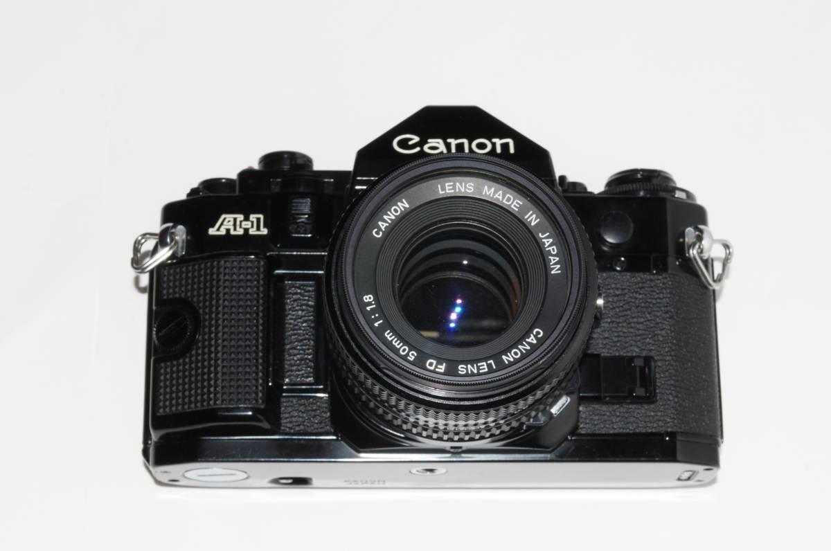 canon キヤノン A-1 、New FD50mmF1.8レンズ付き 稼動品 シャッター鳴きなし_画像4