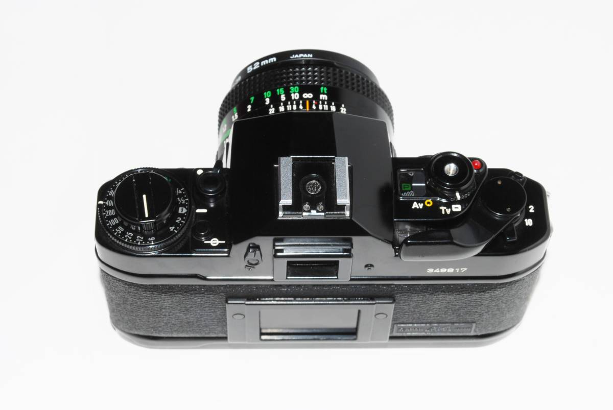 canon キヤノン A-1 、New FD50mmF1.8レンズ付き 稼動品 シャッター鳴きなし_画像6
