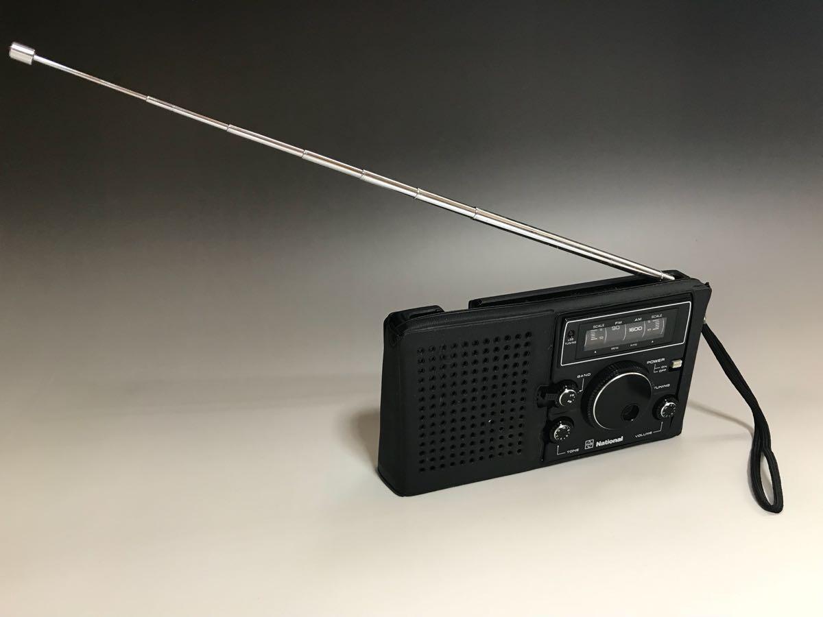 希少 National ナショナル FM/AM 2バンド ラジオ RF-068 / ケース付き ジャンク 現状渡し
