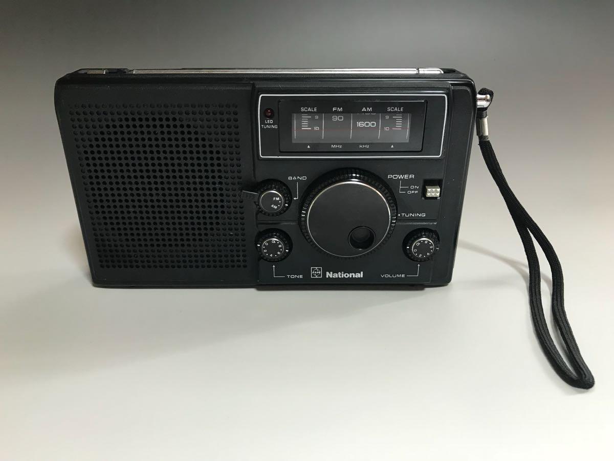希少 National ナショナル FM/AM 2バンド ラジオ RF-068 / ケース付き ジャンク 現状渡し_画像3