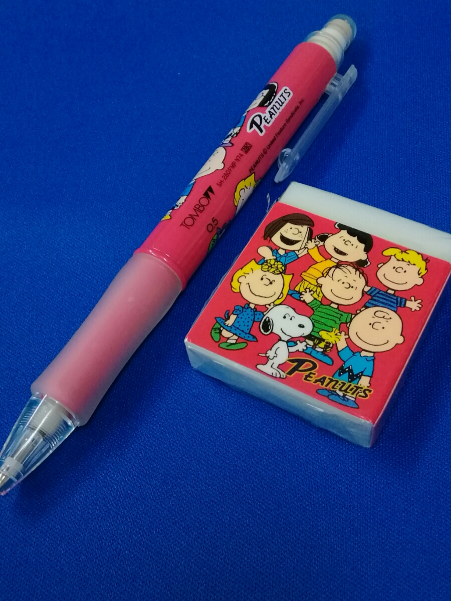 【新品】スヌーピー(SNOOPY)☆ピーナッツ(PEANUTS) シャープペン&消しゴムセット トンボ鉛筆 _画像2