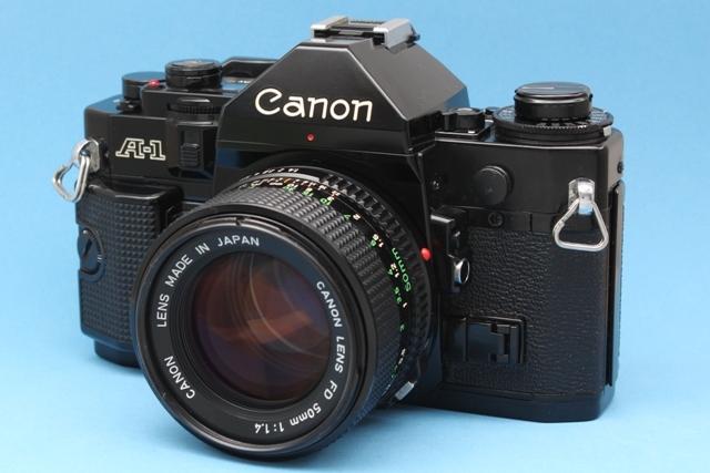 良品 Canon A-1 と New FD 50mm 1:1.4 シャッター鳴きなし 露出計作動 ファインダー良好 キャノン ジャンクで_画像4