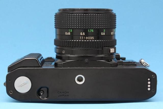 良品 Canon A-1 と New FD 50mm 1:1.4 シャッター鳴きなし 露出計作動 ファインダー良好 キャノン ジャンクで_画像7