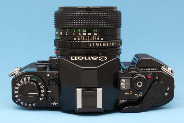 良品 Canon A-1 と New FD 50mm 1:1.4 シャッター鳴きなし 露出計作動 ファインダー良好 キャノン ジャンクで_画像6
