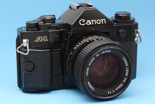 良品 Canon A-1 と New FD 50mm 1:1.4 シャッター鳴きなし 露出計作動 ファインダー良好 キャノン ジャンクで_画像3