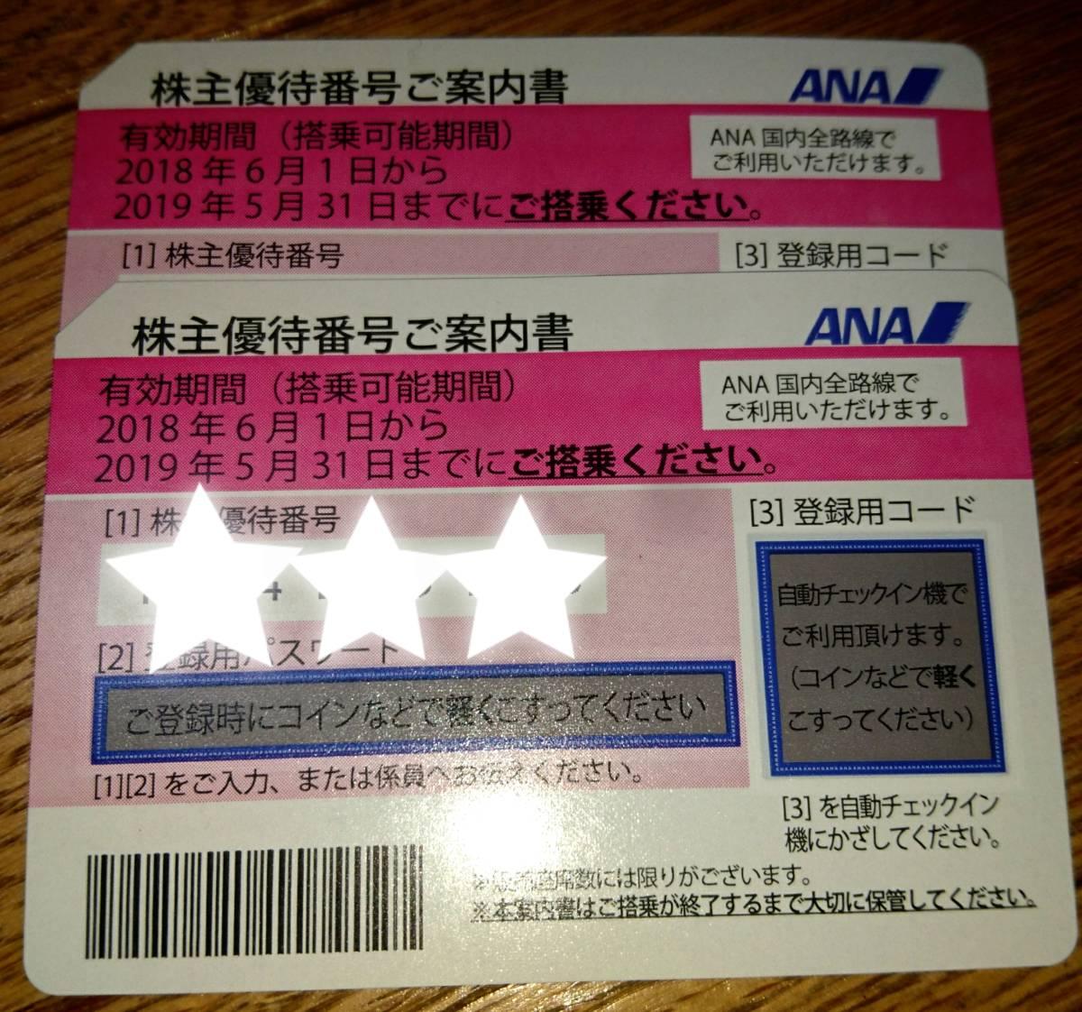 ★全日空 ANA 株主優待券2枚 ANA 送料込 来年5/31迄