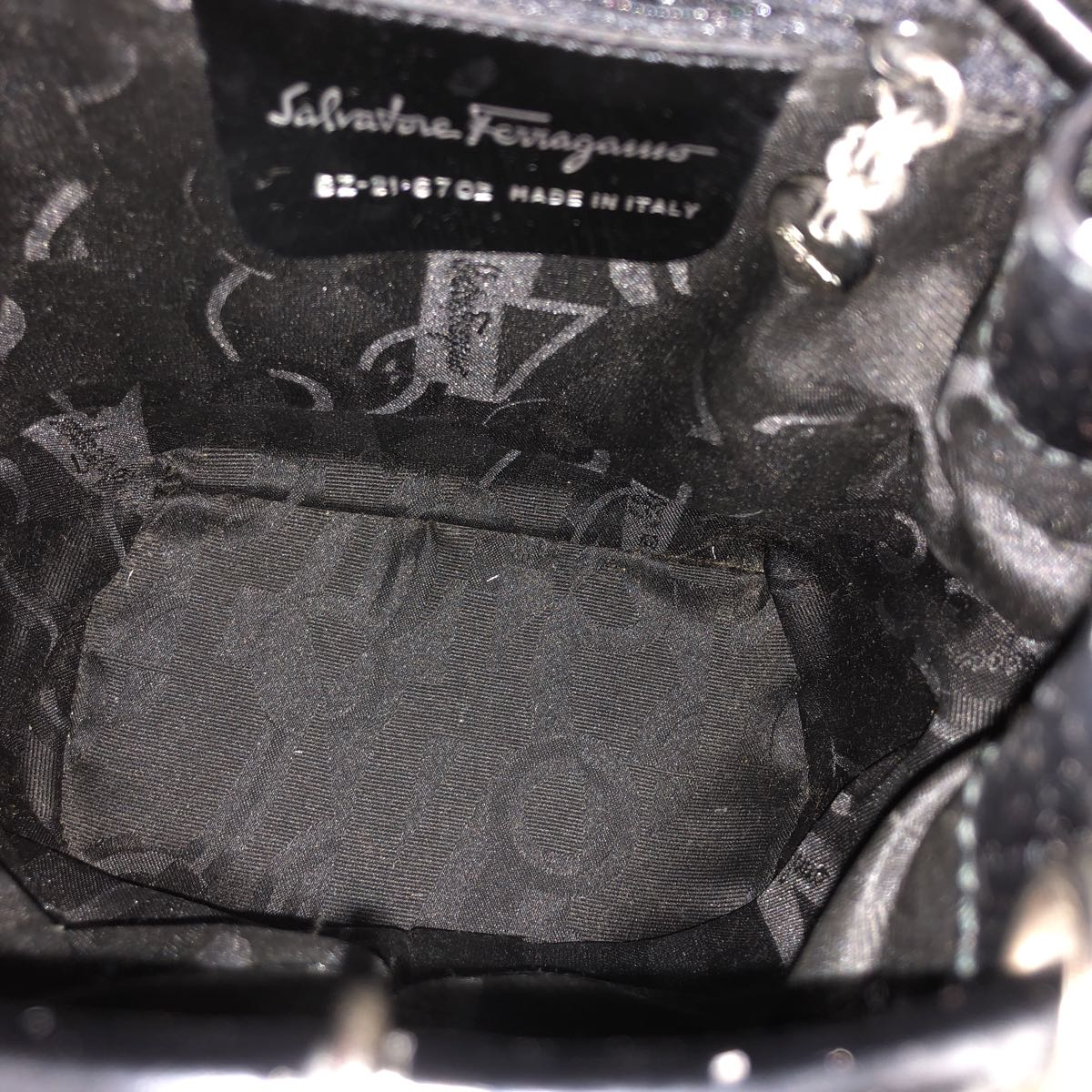 サルヴァトーレ フェラガモ Salvatore Ferragamo リボン 巾着 リュック バックパック 1円~ スレなし_画像8