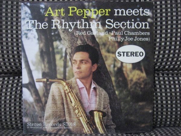 US ORIG.美盤NM-//ART PEPPER MEETS THE RHYTHM SECTION/STEREO RECORDS/S7018