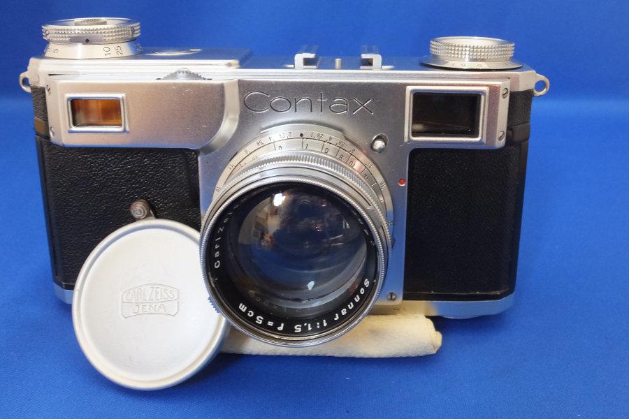 FY6★Contax フィルムカメラ B.61517 レンズ carlzeiss Nr.1892387 sonnar 1:1.5 f=5cm コンタックス オールドレンズ★現状・ジャンク