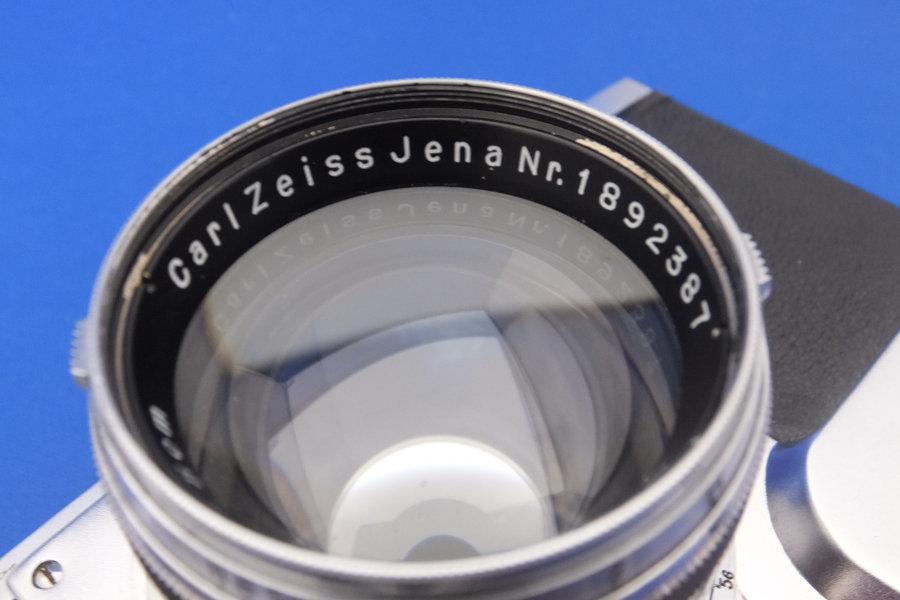 FY6★Contax フィルムカメラ B.61517 レンズ carlzeiss Nr.1892387 sonnar 1:1.5 f=5cm コンタックス オールドレンズ★現状・ジャンク _画像3