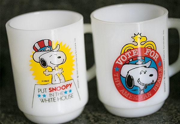 4個ともミント! ファイヤーキング マグ スヌーピー プレジデント アメリカ大統領 4個セット 耐熱 ミルクグラス コーヒー ピーナッツ _画像2