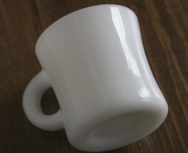 激レア! ファイヤーキング ホワイト エキストラヘビー マグ 美品! 耐熱 ミルクグラス オリジナル 什器 ディスプレイ キッチン 雑貨_画像5