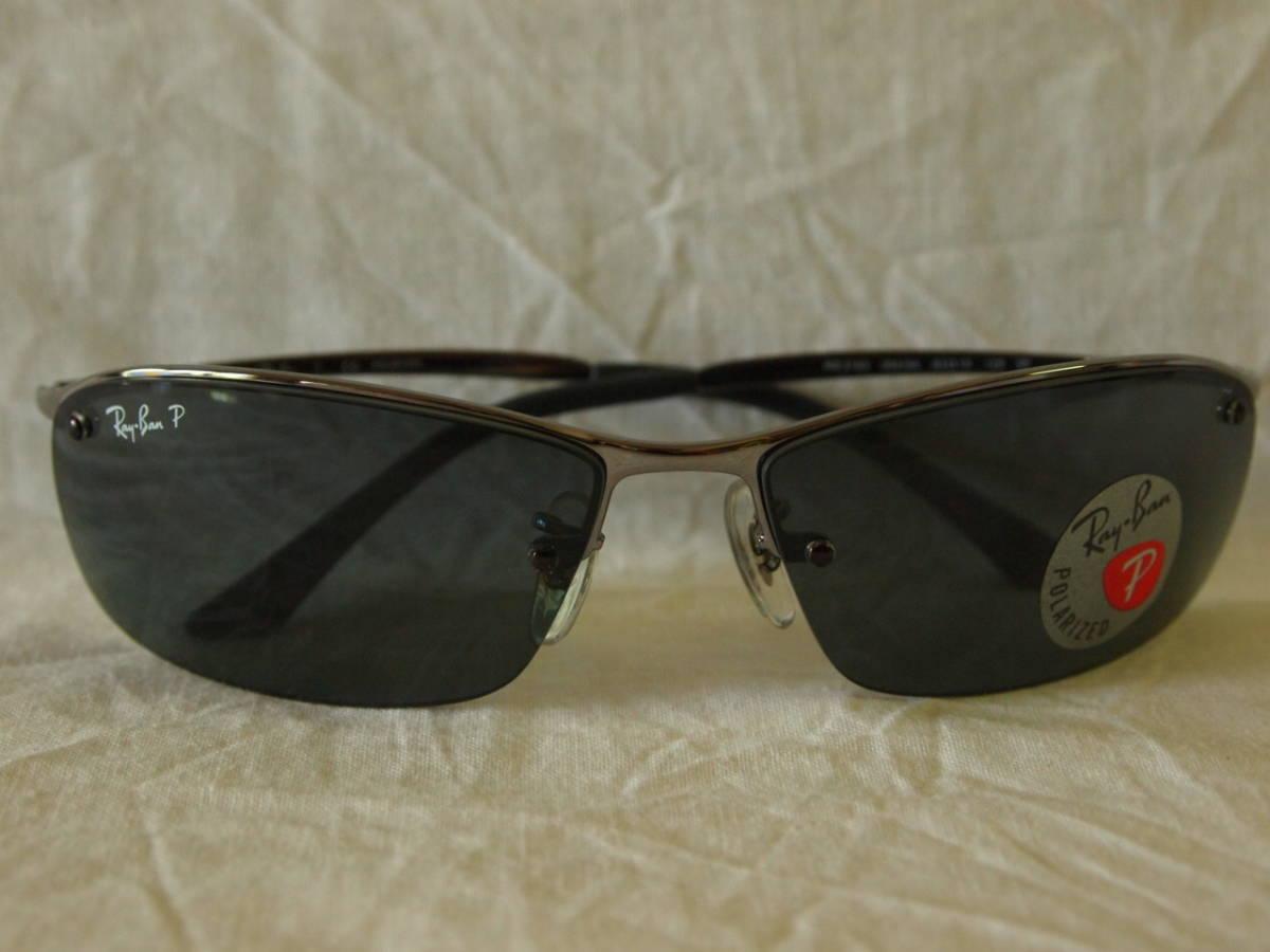 44e73e5bd1e848 RayBan polarized light sunglasses RB3183 004 9A gunmetal ru63  Real ...