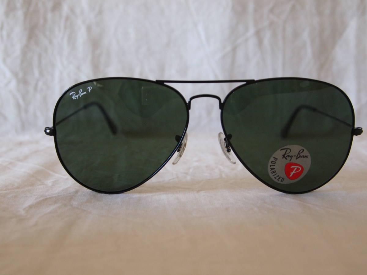 Italy made RB3025 002 58 black 62 RayBan AVIATOR LARGE METAL polarized  light sunglasses 7fc06cffab