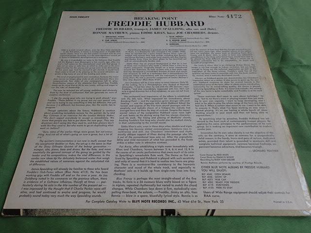 美盤:US Blue Note mono rvg ear Breaking Point / FREDDIE HUBBARD_画像2