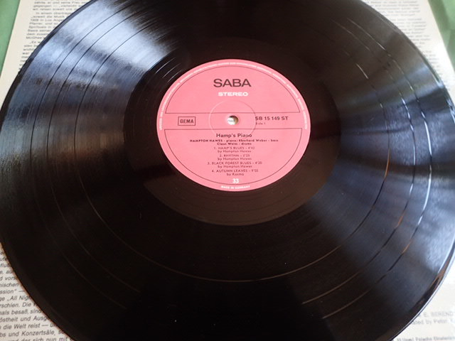 良盤:Germany SABA Hamp's Piano / HAMPTON HAWES_画像4