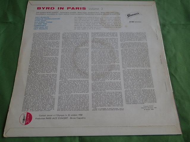 美盤:仏 Brunwick mono dg BYRD IN PARIS vol.2 / DONALD BYRD_画像2
