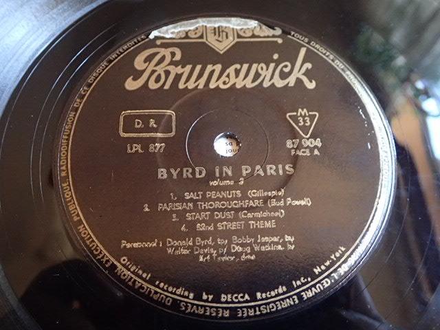 美盤:仏 Brunwick mono dg BYRD IN PARIS vol.2 / DONALD BYRD_画像3