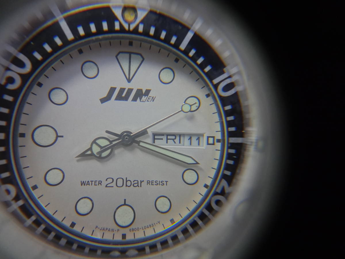 ◇◆ JUN MEN ジュンメン◆CITIZEN VEGA シチズン ダイバー メンズ デイデイト 腕時計 6B00-408675 Y ジャンク_画像9
