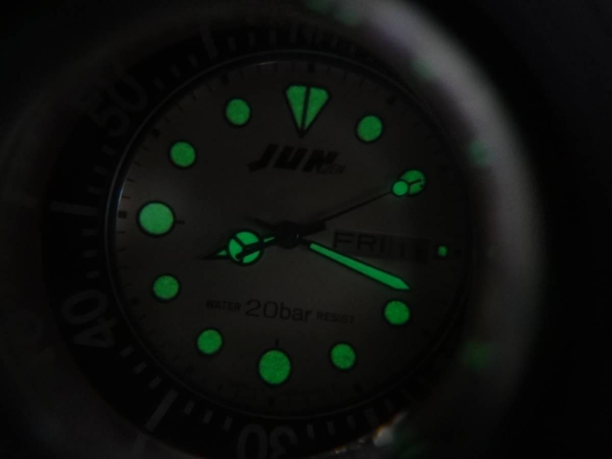 ◇◆ JUN MEN ジュンメン◆CITIZEN VEGA シチズン ダイバー メンズ デイデイト 腕時計 6B00-408675 Y ジャンク_画像10