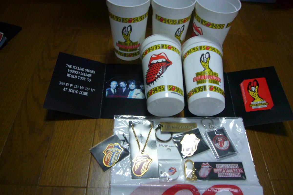 ローリング・ストーンズ The Rolling Stones グッズセット・CD/DVD関連・ステッカー・バッジなど多数◆袋に詰めて!◆未使用品含む◆特価_画像2