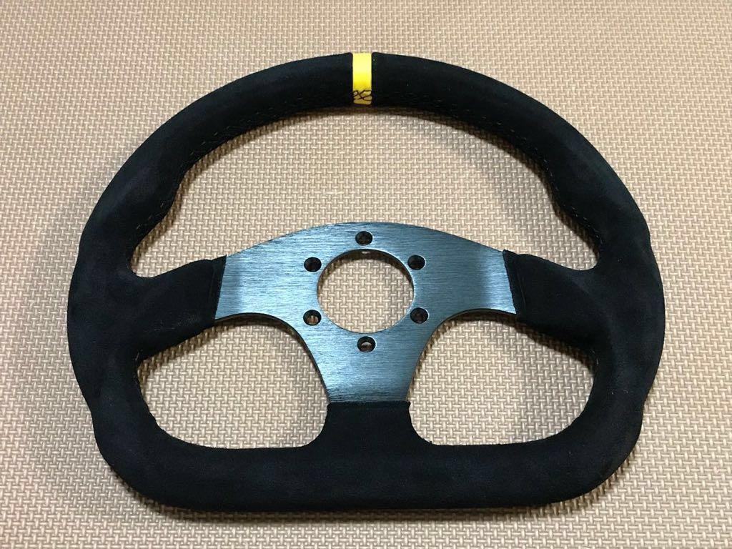 スエード バックスキン ステアリング 黒 モモ スパルコ OMP ナルディ パーソナル 無限 TRD nismo STI S2000 NSX ロードスター カプチーノ