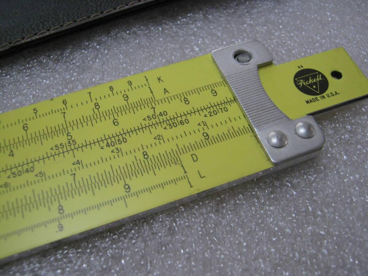 【計算尺】アメリカ PICKETT社 めずらしい総アルミニウム製 フルサイズ Made in USA_画像3