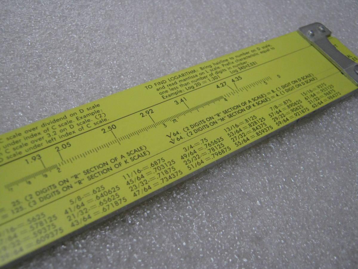 【計算尺】アメリカ PICKETT社 めずらしい総アルミニウム製 フルサイズ Made in USA_画像4