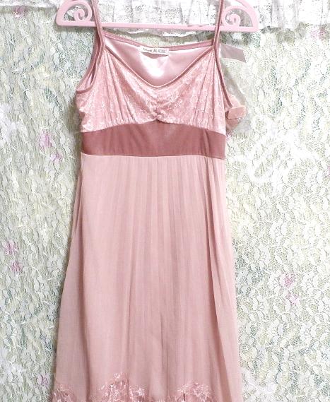 ピンクシフォンレースキャミソールワンピース/ネグリジェ Pink chiffon lace camisole onepiece/negligee_画像7