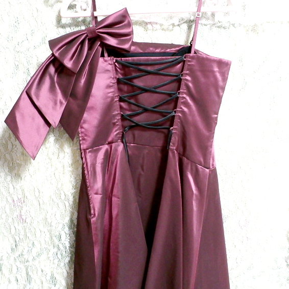PREFERENCE PARTY'S プリフェレンスパーティーズ 紫光沢ワンピースキャミソールリボンドレス Purple gloss onepiece camisole ribbon dress_画像6