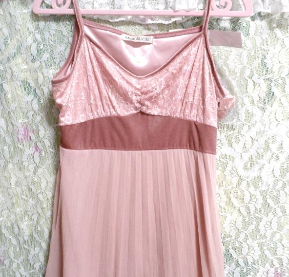 ピンクシフォンレースキャミソールワンピース/ネグリジェ Pink chiffon lace camisole onepiece/negligee_画像6