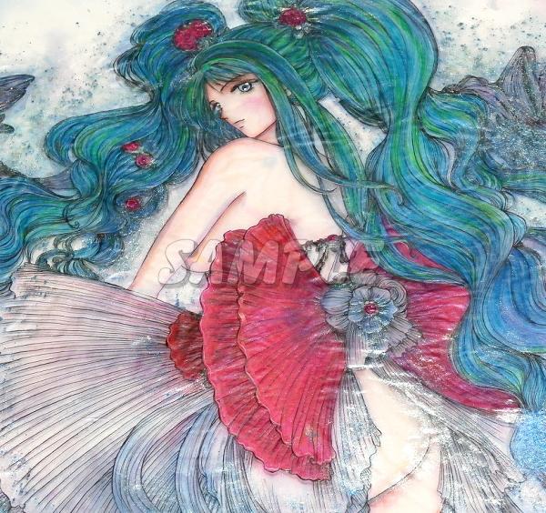 A3 foto de menina bonita twintail desenhada a mão imagem de arte original CG Mão desenhada imagem de arte original CG cute girl beleza, arte e pintura e pintura de retrato