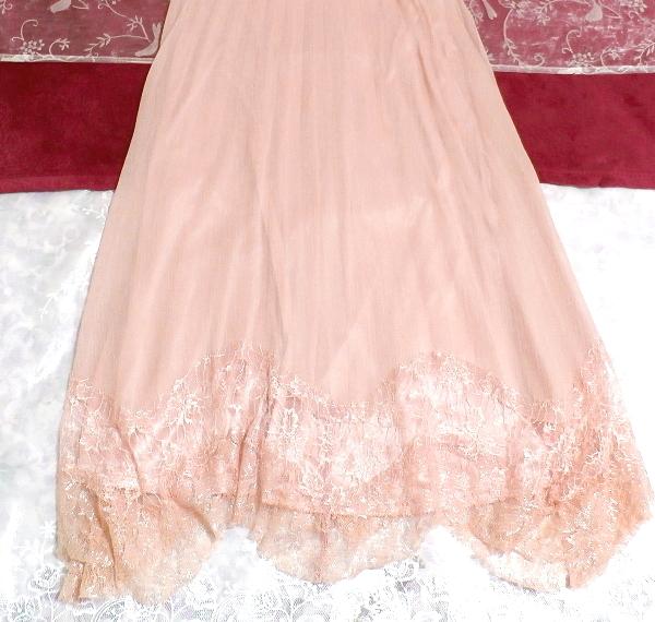 ピンクシフォンレースキャミソールワンピース/ネグリジェ Pink chiffon lace camisole onepiece/negligee_画像3
