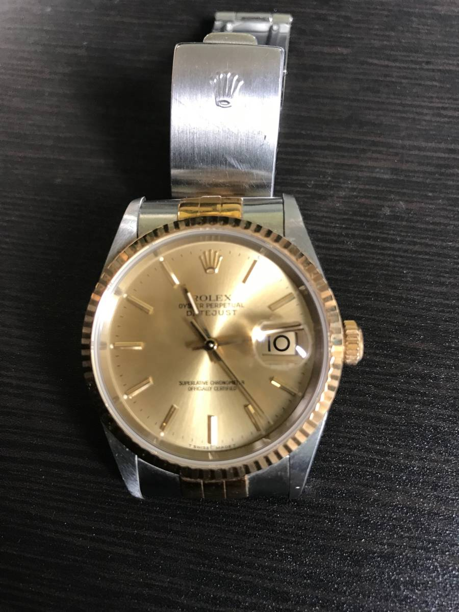 ★★★ ロレックス デイトジャスト 腕時計 メンズ16233 自動巻き ★★★