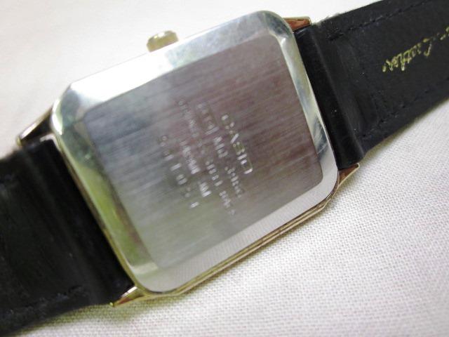 カシオ CASIO クオーツ 漢字 漢字文字盤 ゴールドカラー 稼働品 メンズ_画像3