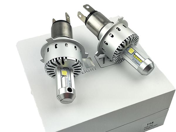 ★フォレスター SG5・9 H9.2~H14.1 ワンタッチ取付 PHILIPS CREE製XHP50 LEDヘッドライト H4バルブ Hi/Lo 16000LM 車検対応