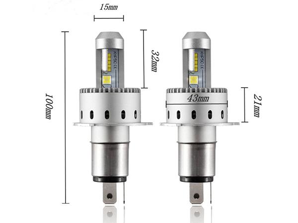 ★フォレスター SG5・9 H9.2~H14.1 ワンタッチ取付 PHILIPS CREE製XHP50 LEDヘッドライト H4バルブ Hi/Lo 16000LM 車検対応_画像4