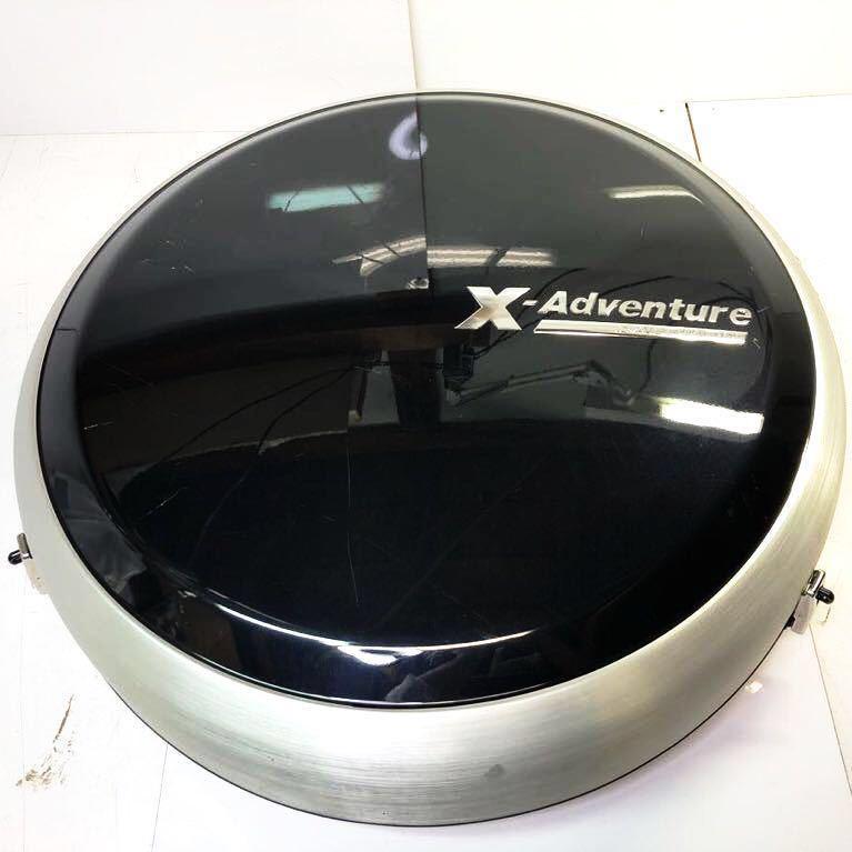ジムニー スペアタイヤ カバー 1円スタート JB23W X-Adventure SALOMON ジムニー クロスアドベンチャー純正 ハードカバー ブラックパール