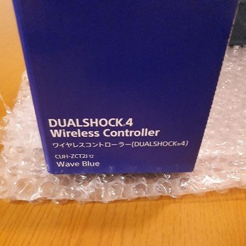[極美品] 新型 ワイヤレスコントローラー(DUALSHOCK 4) ジェット・ブラック(CUH-ZCT2J) 箱、説明書付き 新品USBケーブル おまけ付き_画像3