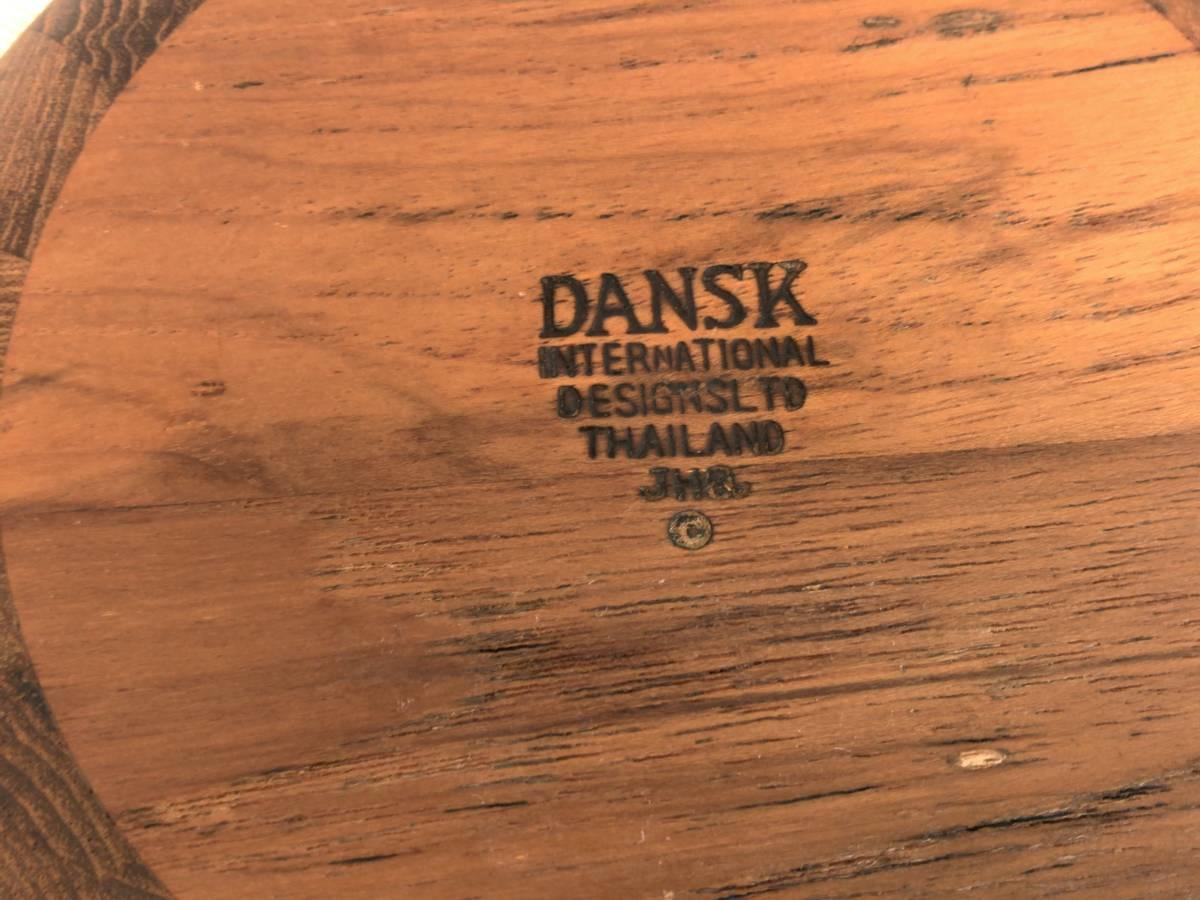 ダンスク・JHQ チーク材のサラダボウル2個セット 直径15㎝/デンマーク/Dansk/クイストゴー/3①_画像7