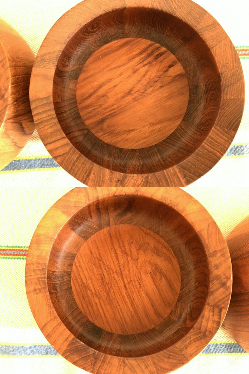 ダンスク・JHQ チーク材のサラダボウル2個セット 直径15㎝/デンマーク/Dansk/クイストゴー/3①_画像2