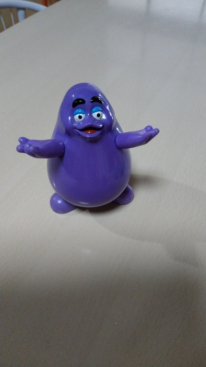 Rare rare vintage mcdonalds character grimace happy set toy
