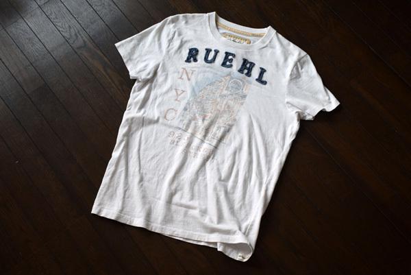 美品 希少 レア物 BLEECKER STREET NEW YORK CITY RUEHL No.925 正規品 半袖 メンズ Tシャツ ルール ナンバー925 アバクロの上級ブランド_画像2