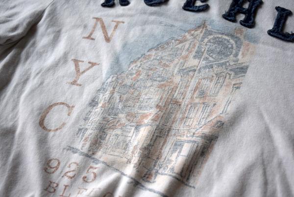 美品 希少 レア物 BLEECKER STREET NEW YORK CITY RUEHL No.925 正規品 半袖 メンズ Tシャツ ルール ナンバー925 アバクロの上級ブランド_画像4