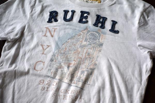 美品 希少 レア物 BLEECKER STREET NEW YORK CITY RUEHL No.925 正規品 半袖 メンズ Tシャツ ルール ナンバー925 アバクロの上級ブランド_画像1